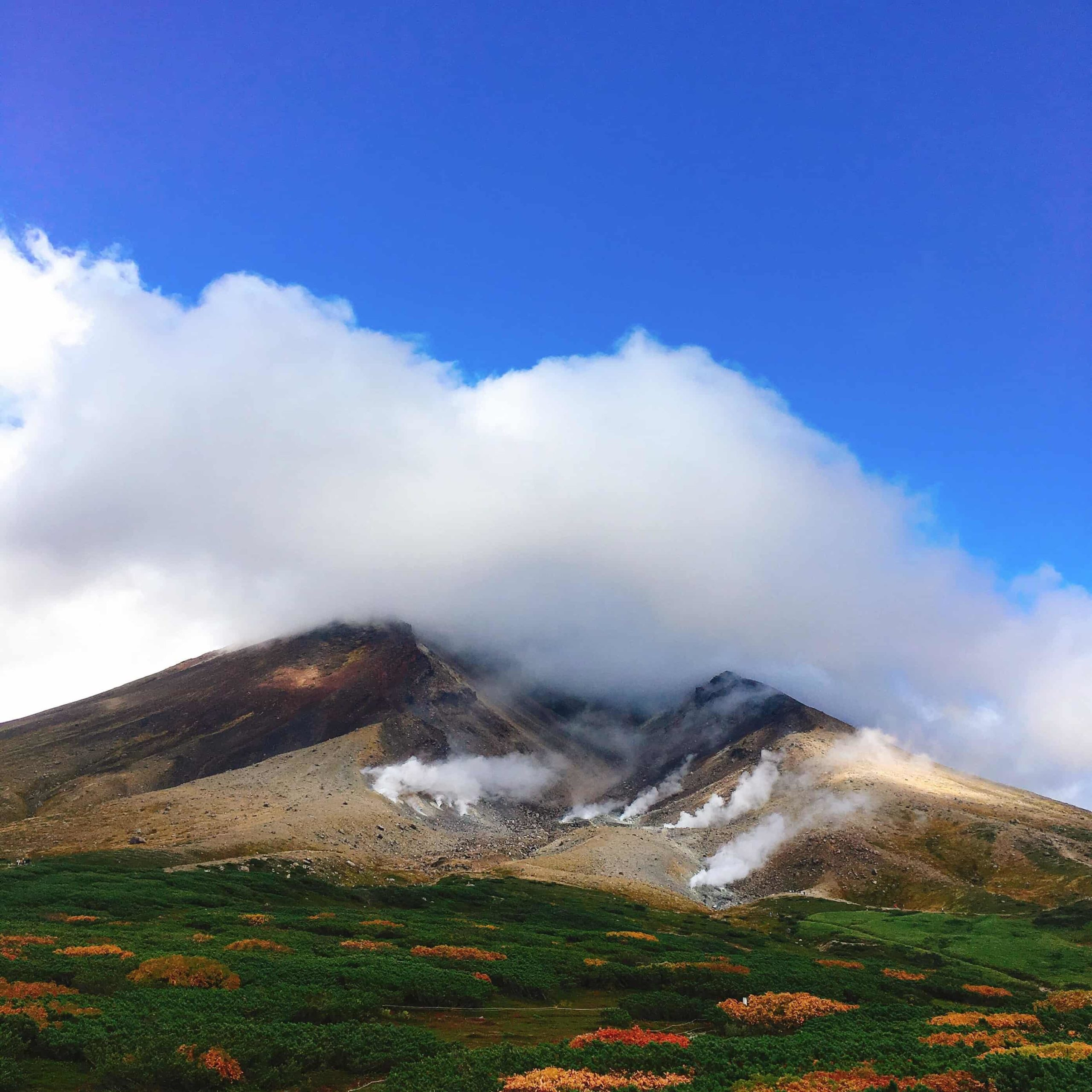 旭岳の紅葉の様子