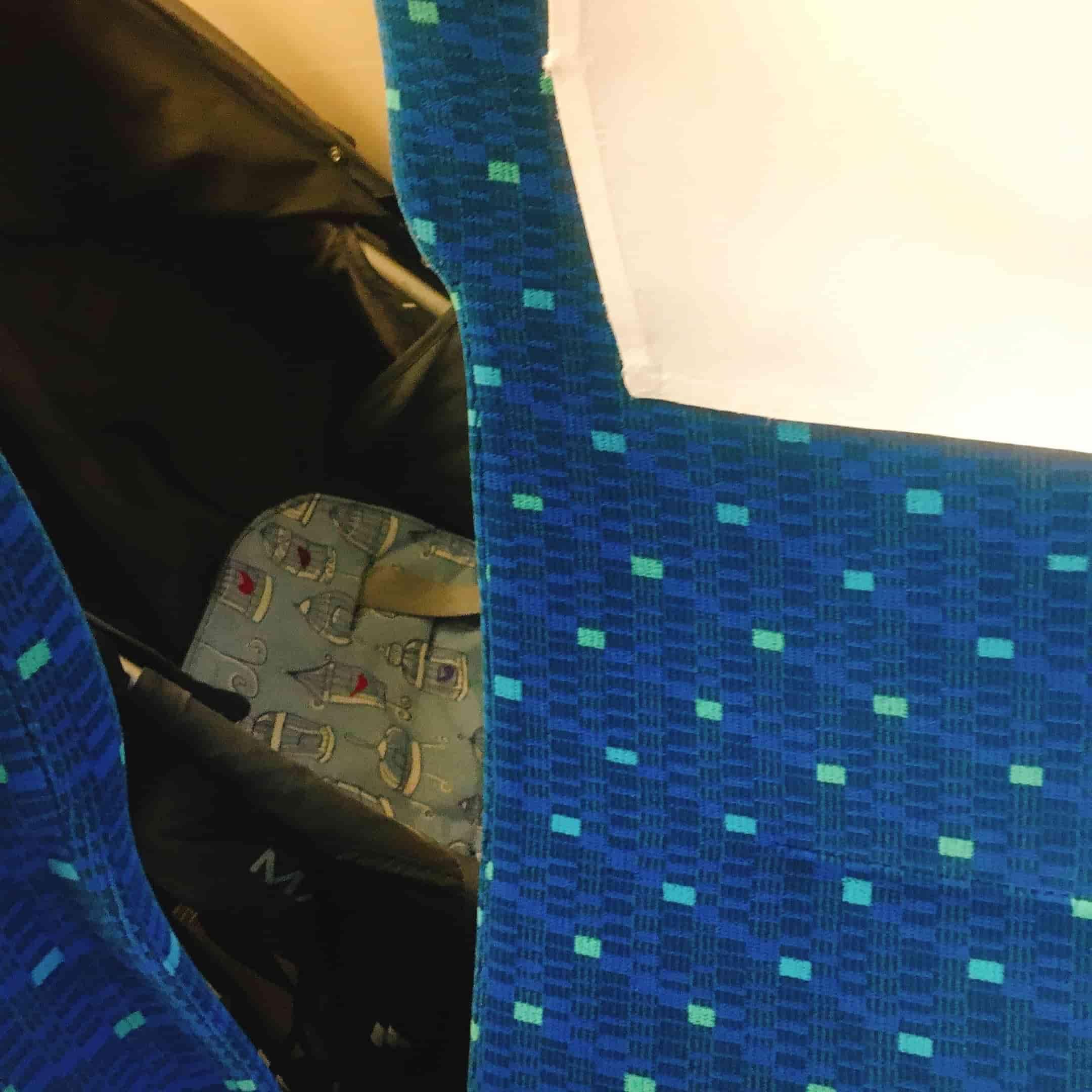 新幹線の座席からベビーカーを見た感じ